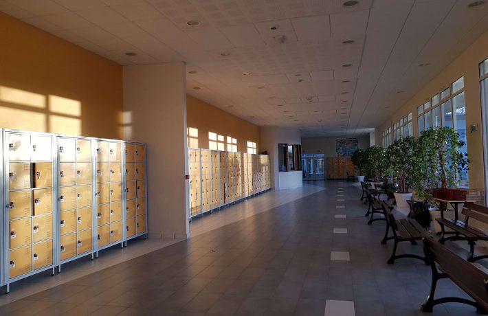 Vue de l'intérieur du Lycée Jean Paul II